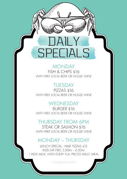 Manly Wharf Daily Specials